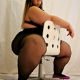 BBW with Wide Hips and Plump Ass Thighs in Pantyhose