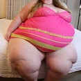 Huge Fat SSBBW Belly and Ass in Tight Clothing