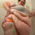 Huge Big Fat BBW Belly and Rolls